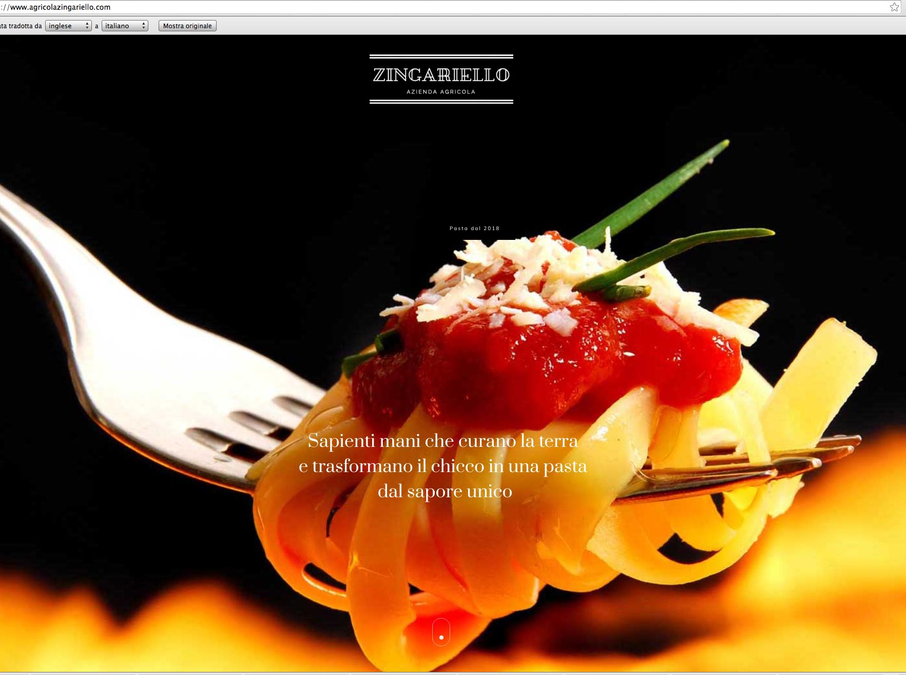 website – agricolazingariello.com